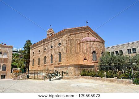 Saint George Greek Orthodox Church in Madaba Jordan.