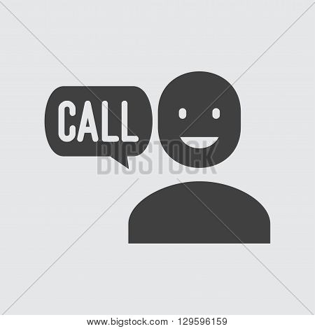 Call icon illustration isolated vector sign symbol