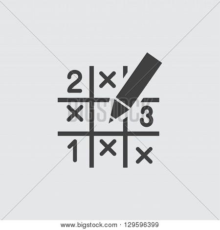 Sudoku icon illustration isolated vector sign symbol