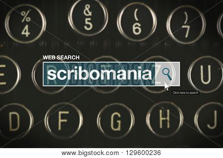 Scribomania web search bar glossary term on internet