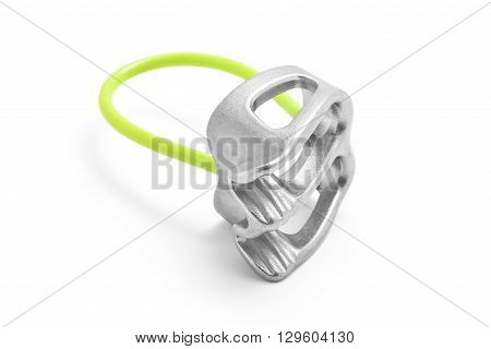 Belay atc rappel device isolated on white