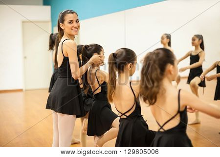 Beautiful Dance Instructor Teaching Ballet
