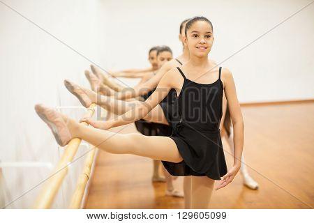 Skinny Girl Enjoying Her Ballet Class