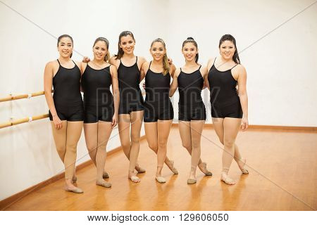 Pretty Female Dancers In A Studio