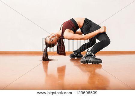 Flexible Dancer Bending Backwards