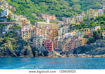 Riomaggiore, Cinque Terre National Park, Liguria, La Spezia, Italy