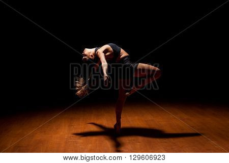 Jazz Dancer In The Middle Of A Performance