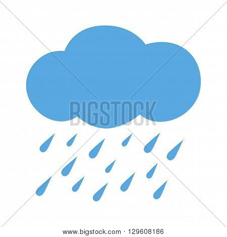 Flat icon heavy rain. Weather forecast. Vector illustration.