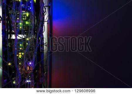 Storage servers in data room Domestic Room long exposure technique .
