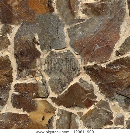 Seamless old stone wall texture. Seamless pattern for exterior design purposes