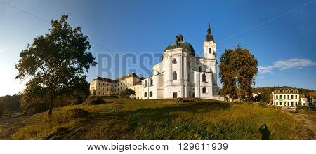 Pilgrimage Church of the Name of Virgin Mary from Jan Santini Aichel in market town Krtiny