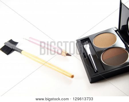 Eyebrow makeup accessories light and dark brown powder