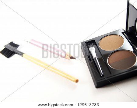Eyebrow makeup accessories light and dark brown powder
