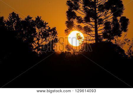Beautiful Brazilian Sunset In A Minas Gerais
