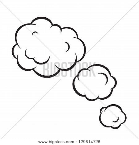 Pop art bubble graphic clouds isolated vector illustration