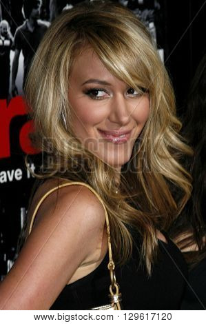Haylie Duff at the season 3 premiere of HBO's 'Entourage' held at the Cinerama Dome in Hollywood, USA on April 5, 2007.