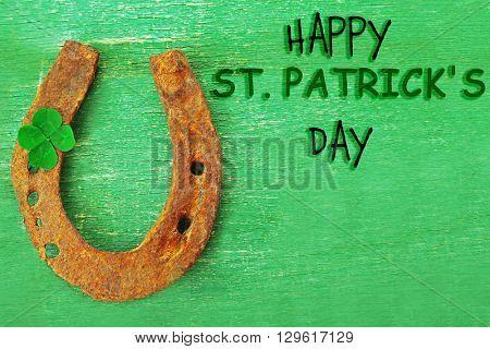 St. Patricks Day. Lucky horseshoe