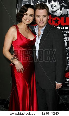 Carla Gugino and Kevin Connolly at the season 3 premiere of HBO's 'Entourage' held at the Cinerama Dome in Hollywood, USA on April 5, 2007.