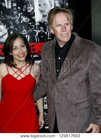 Gary Busey and Vicky Roberts at the season 3 premiere of HBO's 'Entourage' held at the Cinerama Dome in Hollywood, USA on April 5, 2007.