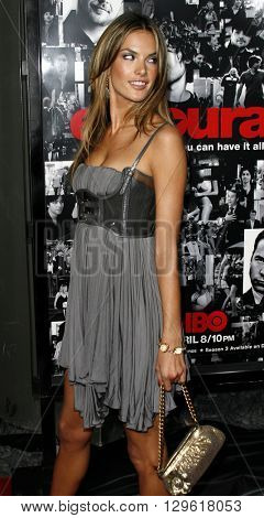 Alessandra Ambrosio at the season 3 premiere of HBO's 'Entourage' held at the Cinerama Dome in Hollywood, USA on April 5, 2007.
