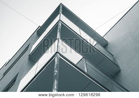 Abstract Fragment Of Modern Block Of Flats