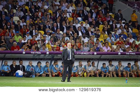 Vicente Del Bosque, Head Coach Of Spain National Football Team
