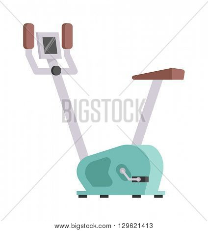 Stationary exercise bike vector.
