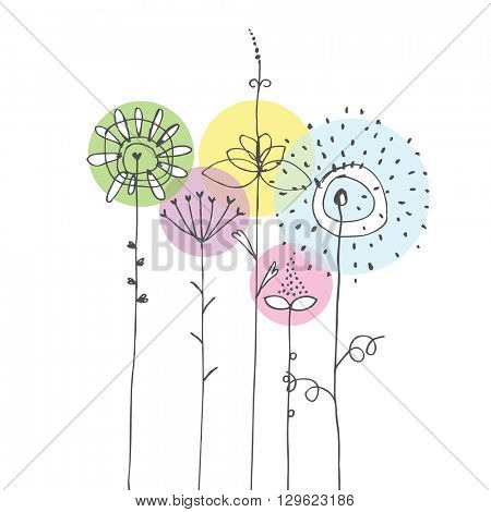 Colorful Flowers - design elements
