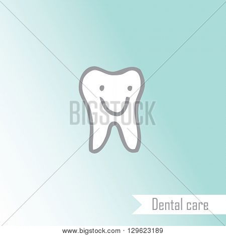 Happy tooth - drawing - design element