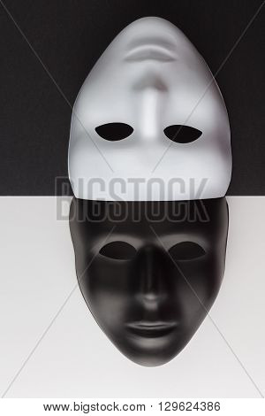 Black And White Masks Upside Down