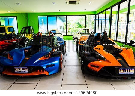 Chonburi, Thailand - March 18, 2016: Car Museum Show In Nong Nooch Tropical Botanical Garden On Marc