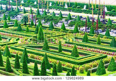 Pattaya, Chonburi - March 18, 2016 : The Beautiful Garden Decoration In Tropical Botanical Garden Na