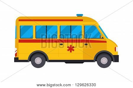 Yellow ambulance car and yellow ambulance. Yellow ambulance emergency vehicle medical transportation and paramedic help yellow ambulance. Ambulance hospital accident. Emergency road medicine car.