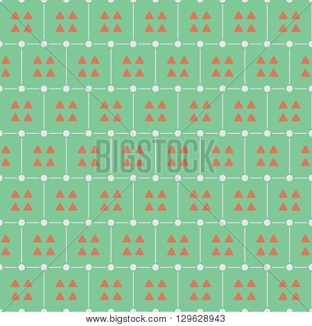 Triangles Seamless Pattern Vector Illustration. EPS 10