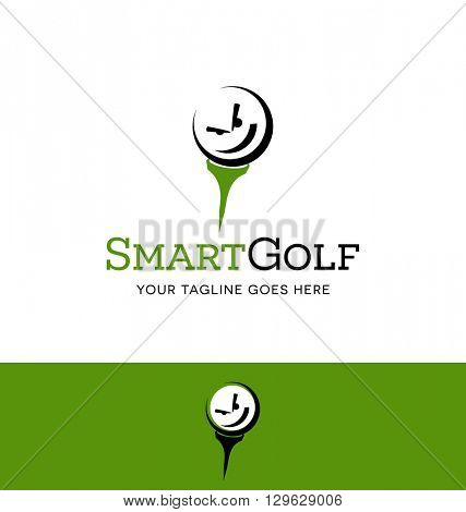 golf ball character logo for business, organization, event or website