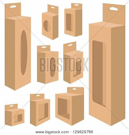 Packaging Box Design for paper on a white background. Box  isolated on white background.