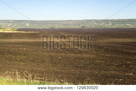 plowed fields are near the rock piles, come spring, the farmers began to work