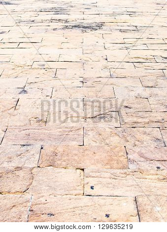 Perspective Background : Sand Stone Brick Perspective Floor,texture Background