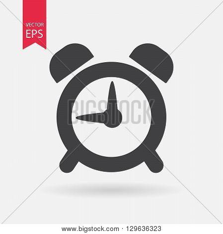 Alarm Clock vector icon. Alarm Clock logo flat design style. Isolated on white background. Vector illustration.