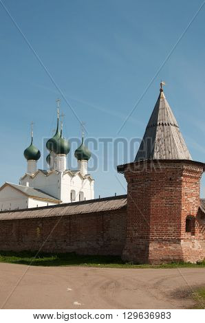 Rostov the Great in spring view to the kremlin The Church Of St. Gregory The Theologian. The Golden Ring of Russia