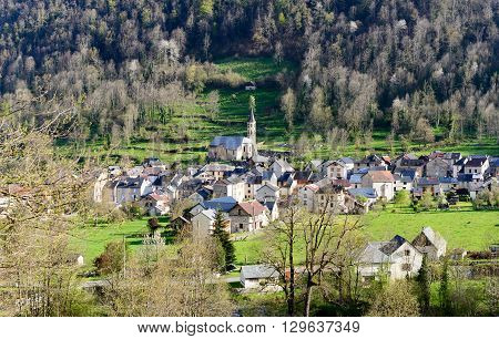 a small mountain village in the French Pyrenees