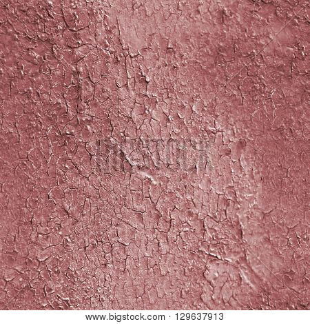 Red cracked seamless texture. Pattern with cracks