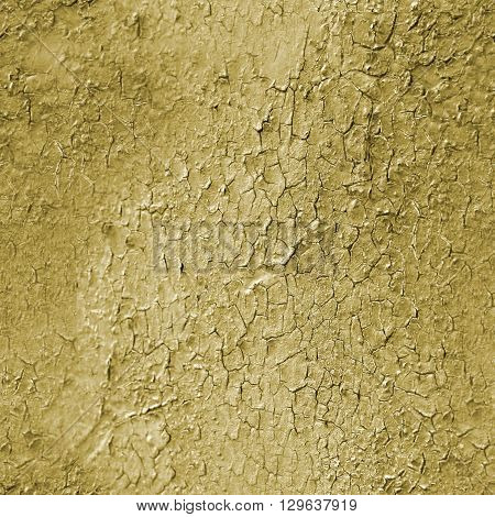 Sand like cracked seamless texture. Yellow pattern with cracks