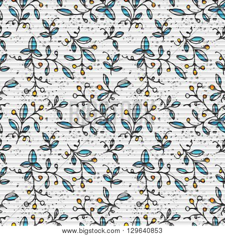 Seamless pattern with small flowers on a white background. The illustration contains transparency and effects. EPS10 Small flowers on a white background. The illustration contains transparency and effects. EPS10