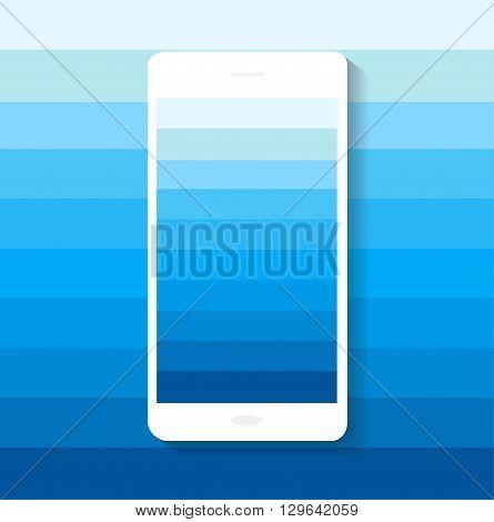 smartphone icon material design blue color vector