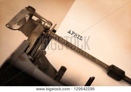 Old Typewriter - April