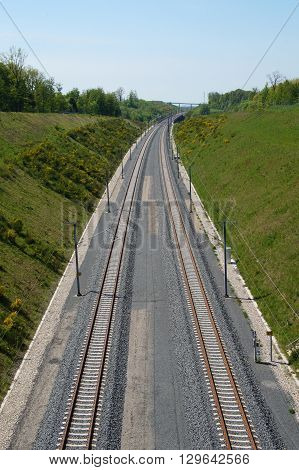 Rail Track for High Speed Trains - railroad track
