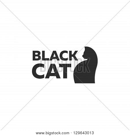 Design kitten logo minimal modern style new flat art