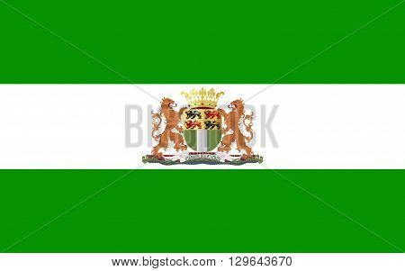Flag of Rotterdam is a city in South Holland the Netherlands located geographically within the Rhine-Meuse-Scheldt river delta at the North Sea