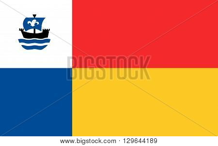 Flag of Almere is a planned city and municipality in the province of Flevoland Netherlands bordering Lelystad and Zeewolde